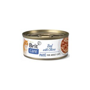 brit care cat pate ternera con olivas