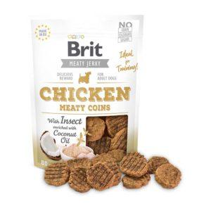 brit jerkey snack monedas pollo e insectos