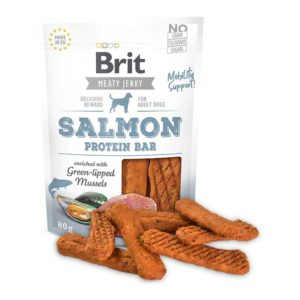 Brit jerky snack barrita salmón
