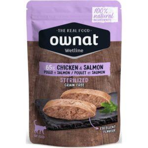 Ownat wetline sterilized pollo y salmón